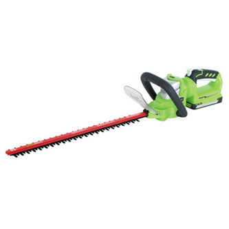Greenworks 22192 24V Cordless Lithium-Ion 22 in. Enhanced Dual Action Hedge Trimmer