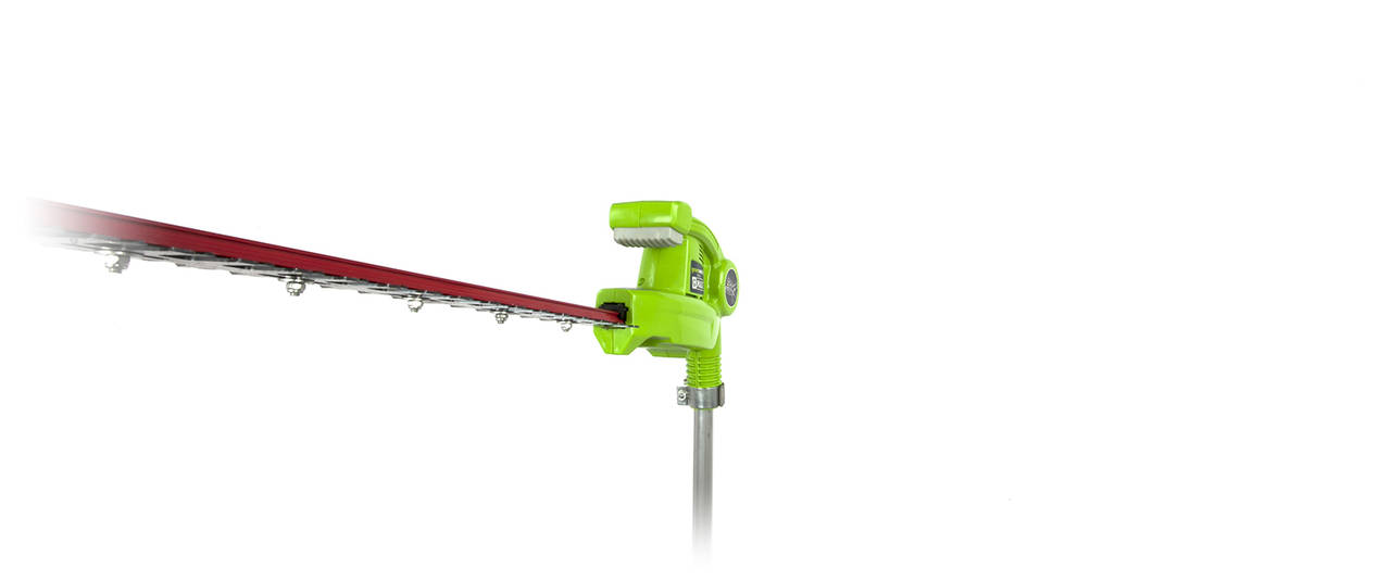 G Max 40v 20 Inch Cordless Pole Hedge Trimmer