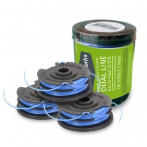 .065-Inch Dual Line String Trimmer Spools, 3-Pack