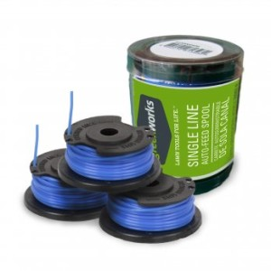 .065-Inch Single Line String Trimmer Spools, 3-Pack